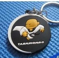 Free shipping taekwondo keychain small gift small toys Taekwondo & Karate Small accessories hangings keychain black