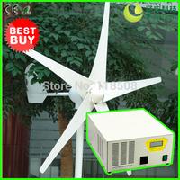 [Off Grid Wind Generating System] 400W 24V Wind Turbine Generator NE-400M + 500W 24V Hybrid Inverter and Controller Device, CE