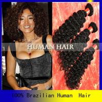 Big discount cheap brizilian virgin hair 4 pcs free shipping ,cheap brazillian deep wave hair extension milky way hair