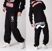 Hip Hop Mens Pants Cotton Trousers BBOY S0treet Ball Loose Guard Skateboard Pants Men Brand Plus Size M -3XL Free Shipping