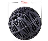 Free shipping 10Pcs 76mm Diameter Black Bio Balls for Aquarium Pond Filter