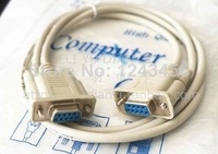 Pin VGA female to female DB9 connector 9-pin serial cable transmission lines (232 lines) 1.5 m genuine