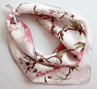 Silk mulberry silk small silk scarf spring women's scarf all-match squareinto