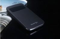 Original 1:1 Luxury Window Flip Folio PU Leather Smart Cover Sleep Function for SAMSUNG GALAXY S5 i9600