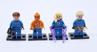 Super Hero Fantastic Four Action Figure Reed Richards Sue Storm Johnny Storm Ben Grimm  DIY Block set Compatible With Lego  T08