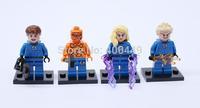 Super Hero Fantastic Four Action Figure Reed Richards Sue Storm Johnny Storm Ben Grimm DIY Building Block  classic toys T08