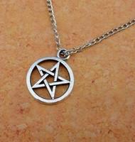 Hot sale fashion cheap supernature movie Accessories  Inspired  metal unisex Pentagram necklace 2N025