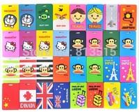 Free shipping monkey luggage tags kawaii travel passport holders bag strap cute 3d tag cartoon wholesale mixed order  novelty