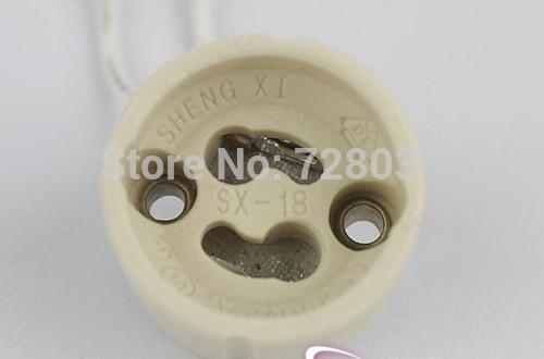 hight quality led gu10 bulb lamp bases ceramics shell lamp holder with 6cm line gu10 lighting bases free shipping(China (Mainland))