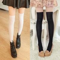 Women Girl Sexy Black Sheer Mock High Stocking Pantyhose Legging Fake High Tight