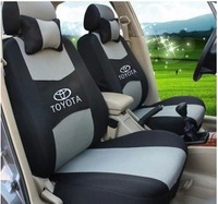 5 Seats+Free Shipping+Universal Seat Cover For All TOYOTA Car+Airbag Compatible+Breathable Material+Gift (Two Pillows)+Logo