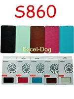 Hot Sale 2014 Newest Lenovo S860 Case Leather Flip Case In Stock Lenovo S860 Leather Flip Cover 1pcs Free Shipping