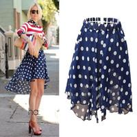 sheer skirts 2014 Summer New Womens Chiffon Long sabo skater skirt tube jupe longue design Split maxi skirt Female Saia Longa