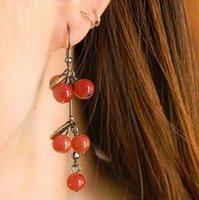 Classical European Cherry beads Drop Earrings,Popular Vintage Trendy Costume jewelry 2E046