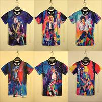 free shipping men/women commemorate michael jackson print t shirt MJ dancing novel 3d top tee summer high street shirt