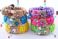 wholesale New 2014 Fashion crystal shourouk Wristband , Shourouk Style Handmade statement bracelet 6 styles for Women