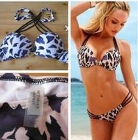 free shipping new 2014 sexy secret swimsuit leopard  Wholesale  women bikini set beach bikinis