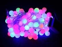10m 100 Matte Plasma Balls RGB LED Light String Strip Fairy Lights For Wedding Xmas Party Home Decoration 110V/220V EU/US/UK/AU