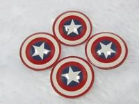 Free shipping! handmade photo glass cabochon frozen 50pcs mixed 20mm Captain America