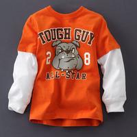 boy cartoon cotton T-shirt-The big dog