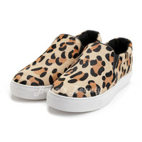 New 2014 European and American couple models flat shoes lazy shoes low shoes help Women of leopard color spring shoes