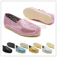 Fashion Women Glitter Canvas Shoes, Casual Women's Flat Shoes Cheap Brand Summer Shoes Free Shipping