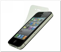 Screen Protector for iPhone 4 4s Toughened protective film With Retail Package,Free shipping