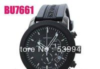 100% Original Black Rubber Analog ChronoGraph Watch BU7761 SWISS MADE