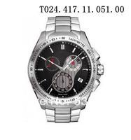 HK Post transport NEW T024.417.11.051.00 Business Quartz table Swiss movement Waterproof watch+Original box