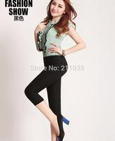 D50 Hot sale Women's Plus Size Summer Slim waist candy color stretch Leggings capris fashion Pencil capris pants G503 8039