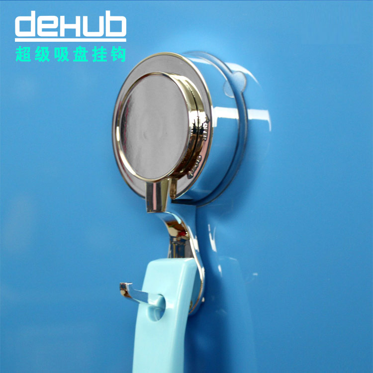 2014 New Dehub strong suction cup robe hooks silver/white color single hook for bags/keys/bathroom accessories wall mounted(China (Mainland))