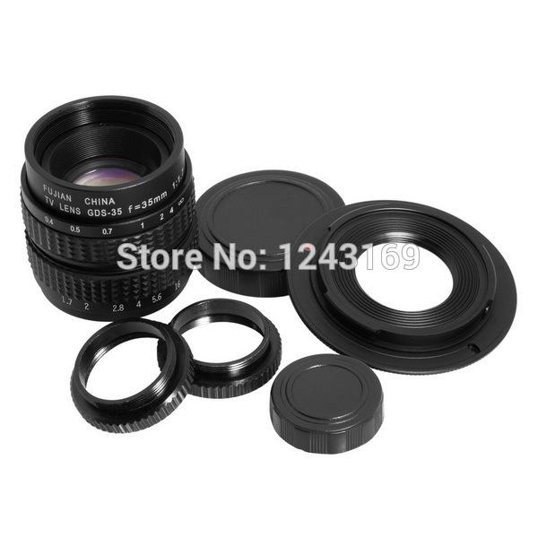 35mm sécuritéf/1.7 cctv. c monture adaptateur + 2 bague macro pour sony nex 5n f3 c3k lf11
