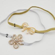 2014 Ordem experimental bebê Glitter Elastic tiara tiara tiara coroa tiara bebê tiara Princesa 4pcs Headband / lote(China (Mainland))