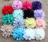 """New Fashion 4"""" Soft Chiffon Flowers Baby Girls Flower Headbands Accessories Chiffon Flower Head 50PCS/LOT"""