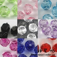 Acrylic beads diy handmade beaded tissue box material kit jelly beads 6mm/8mm 32 surfaces earth beads