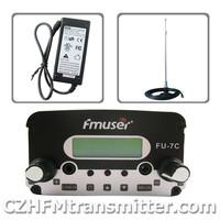 FMUSER FU-7C 7w FM stereo PLL transmitter+car  antenna +Powersupply  KIT free shipping