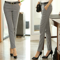 New 2014 casual Plover women pants plus size trousers mid waist Pencil pants for women trousers cotton long pants MLYS 6910