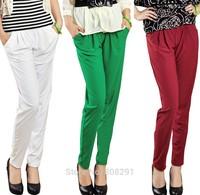 High Quality Bamboo Charcoal Fiber Ninth Pants Large Size Pants Spring Summer Casual Pants  Harem Pants Hot Saled !