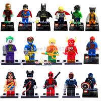High Quanlity Revenger Mini Figure 16pcs/lot Building Blocks super hero ironman batman spiderman toys Free Shipping Without box