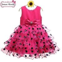 New Girls dress girl one piece kids polka dot tutu dresses children paty festival costume for 3-8 years