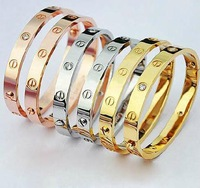 Titanium steel bracelet rose gold bangle eternal love lovers bracelet screwdriver z001