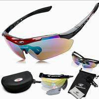 2014 Men Polarized Cycling Eyewear Sunglass Outdoor Cycling Glasses Bicycle Bike UV400 Sports Sun Glasses 5 Lenses Original Box
