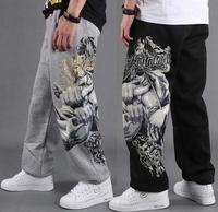 Hot 2014 Mens Pants Male Sports Pants Fashion HIP HOP Pants Leisure Loose Pants Brand Sweatpants For Men Free Shipping