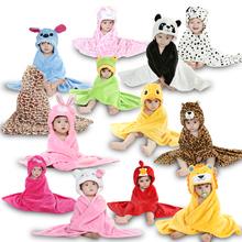 Children Accessories Newborn Baby Flannel Receiving Blanket 12 Style Animal Bathrobe Bath Towel for Baby & Kids Retail Wholesale(China (Mainland))