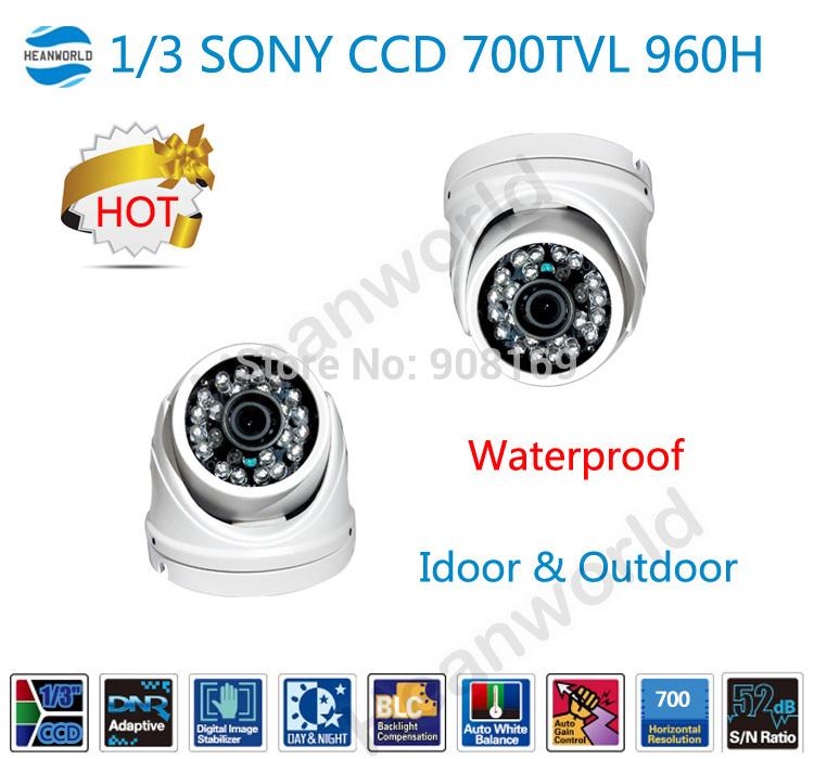2014 caldo 700 tvl ccd sony fotocamera super 1/3 960h cctv metallo