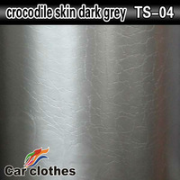 High Quality Goods 1.52x30m Adhesive Rolls Sticker Body Car Vinyl Film Crocodile