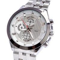 Watch luxury men genuine quartz jewelry wrist watch Japan movement stainless steel alloy watch drop shipping Christmas Gift