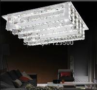 2014 new modern design  living room square crystal LED chandelier lights led crystal lighting fixture L580*W450*h150mm