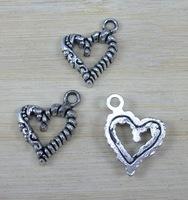 ST-136 2*1.5 cm charm 280pcs/lot weight 1.51g  per promotional items zinc alloy  antique heart  charm pendent