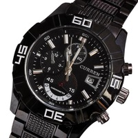 New 2013 Hot Sale Stylish CURREN Brand Watches Men Stainless Steel Adjustable Quartz Analog Free Shipping Christmas gift